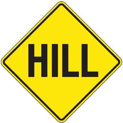Reflective Warning Signs - Hill