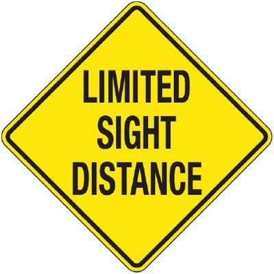 Reflective Warning Signs - Limited Sight Distance