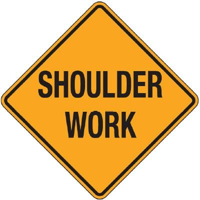 Reflective Warning Signs - Shoulder Work