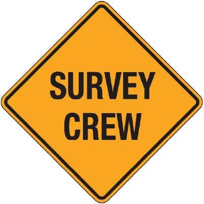Reflective Warning Signs - Survey Crew