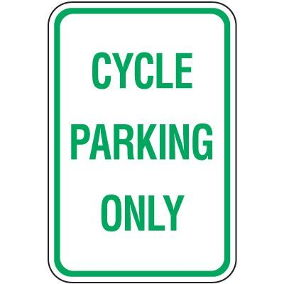 Reserved Parking Signs - Cycle Parking Only