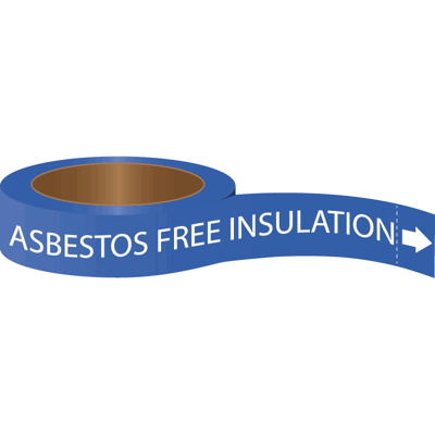 Roll Form Self-Adhesive Pipe Markers - Asbestos Free Insulation