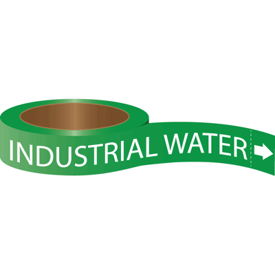 Roll Form Self-Adhesive Pipe Markers - Industrial Water