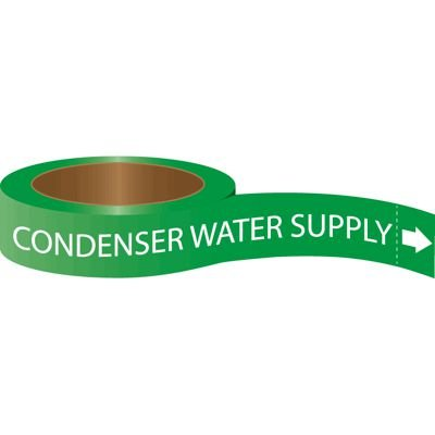 Roll Form Self-Adhesive Pipe Markers - Condenser Water Supply