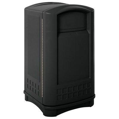 Rubbermaid Plaza Indoor/Outdoor Waste Container - 3964BLA