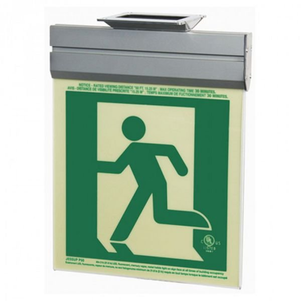 Running Man Graphic - 2FC Glo Brite® Exit Signs, Single-Sided