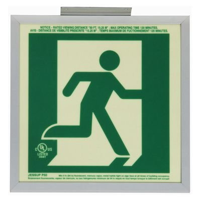 Running Man Graphic - Glo Brite® Exit Signs, Double-Sided