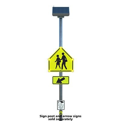 Push Button LED Crosswalk Signs