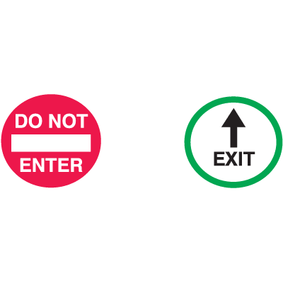 Do Not Enter  /  Exit (With Arrow) Safety Door And Window Decals