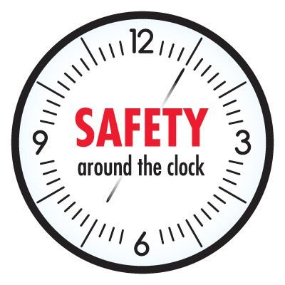 Safety Hard Hat Labels - Safety Around The Clock