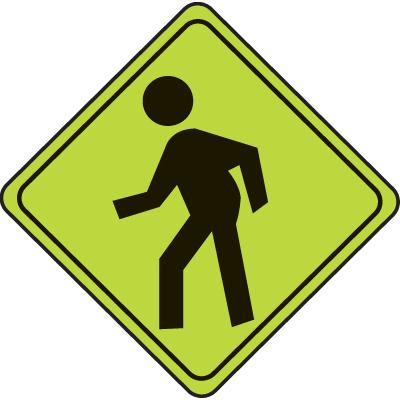 School Safety Signs - Pedestrian Graphic