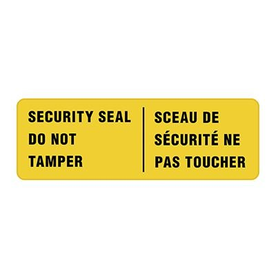 Security Seals - Do Not Tamper