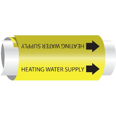 Setmark® Snap-Around Pipe Markers - Heating Water Supply