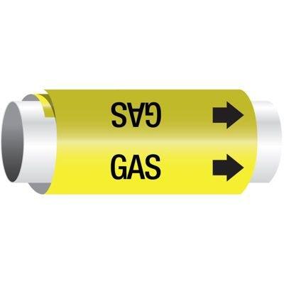 Setmark® Snap-Around Pipe Markers - Gas