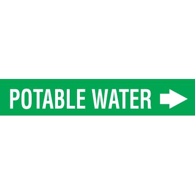 Seton Code™ Economy Self-Adhesive Pipe Markers - Potable Water