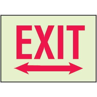 Luminous Path Marker Signs - Exit with Double Arrow