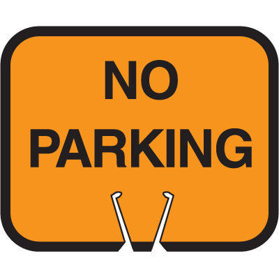 Snap-On Cone Sign - No Parking