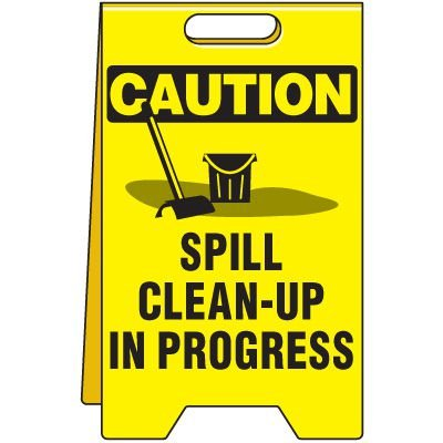 Caution Spill Clean-Up Floor Stand