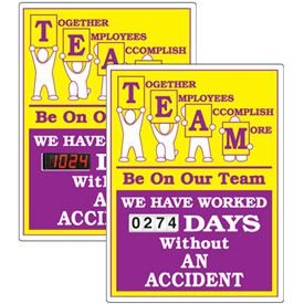 Stock Scoreboards - TEAM Without An Accident