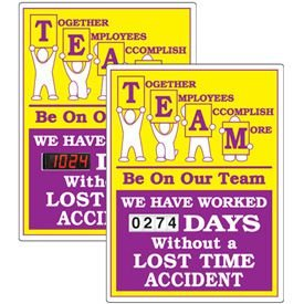 Stock Scoreboards - TEAM Without Lost Time Accident