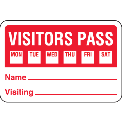 Stock Visitor Badges On A Roll
