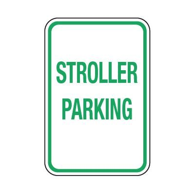 Stroller Parking - Preschool Parking Signs