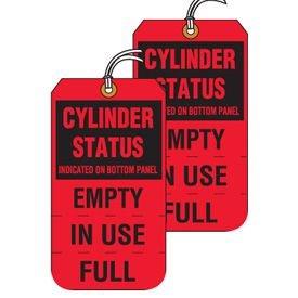 Tear-Off Jumbo Cylinder Status Tags