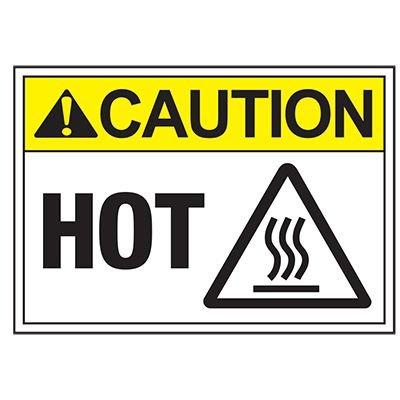 ToughWash® Labels - Caution Hot (With Symbol)