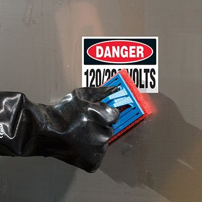 ToughWash® Labels - Danger 120/280 Volts