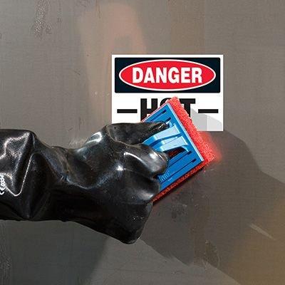 ToughWash® Labels - Danger Hot