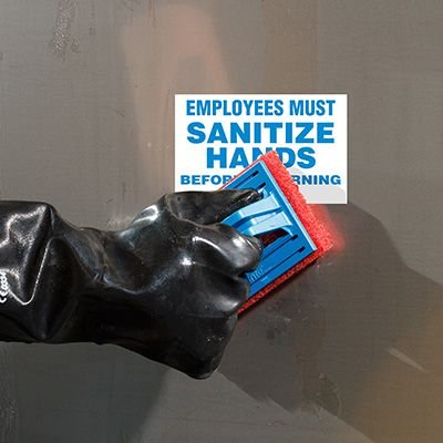 ToughWash® Labels - Employees Must Sanitize Hands