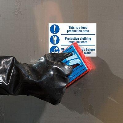 ToughWash® Labels - Food Area Clothing Wash Hands