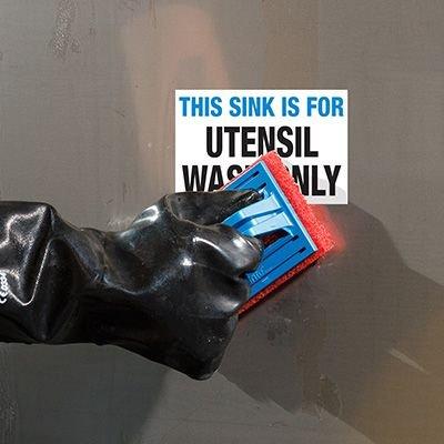 ToughWash® Labels - Utensil Wash Only Sink