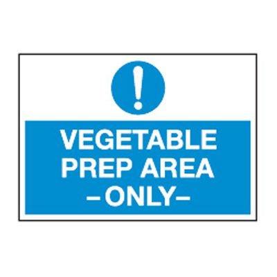 ToughWash® Labels - Vegetable Prep Area