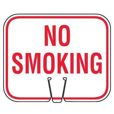 Traffic Cone Signs - No Smoking