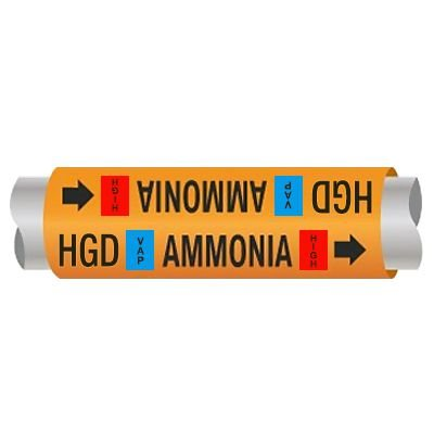 Ultra-Mark® Ammonia Pipe Markers - Hot Gas Defrost