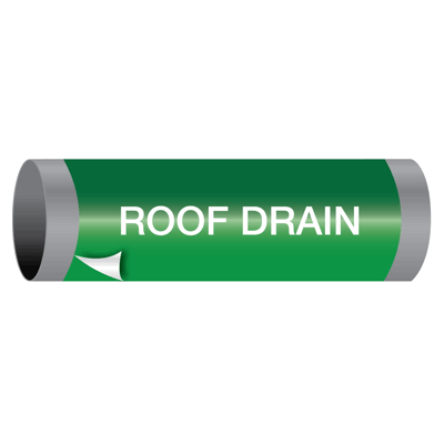 Ultra-Mark® Snap-Around High Performance Pipe Markers - Roof Drain
