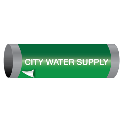 Ultra-Mark® Snap-Around High Performance Pipe Markers - City Water Supply