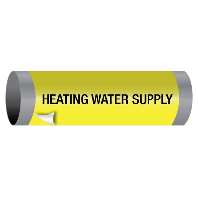 Ultra-Mark® Snap-Around High Performance Pipe Markers - Heating Water Supply