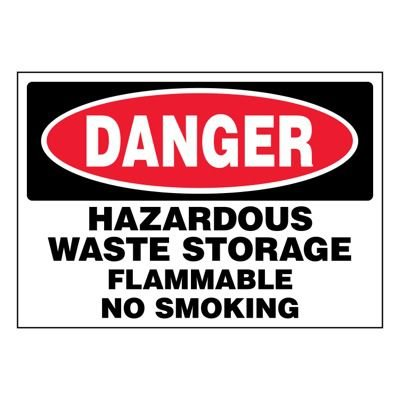 Ultra-Stick Signs - Danger Hazardous Waste Storage