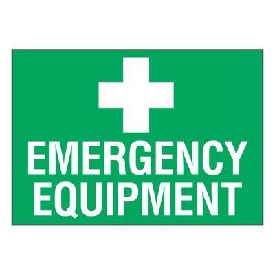 Ultra-Stick Signs - Emergency Equipment