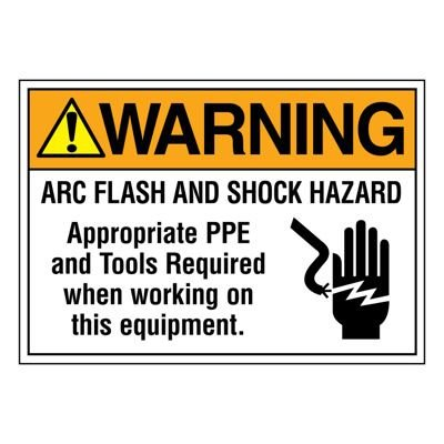 Ultra-Stick Signs - Warning Arc Flash And Shock Hazard