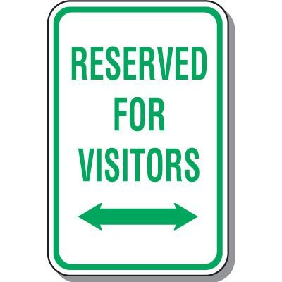 Visitor Parking Signs - Reserved For Visitors (Double Arrow)
