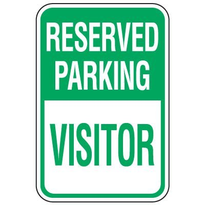 Visitor Parking Signs - Reserved Parking Visitor