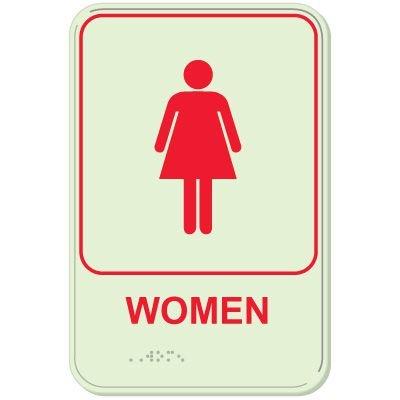 Women - Glo-Brite® ADA Braille Signs