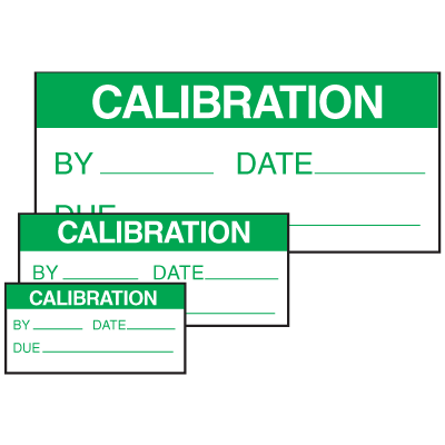 Calibration By Date Due Self Laminating Labels