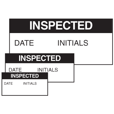 Inspected Date Initials Self Laminating Labels