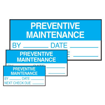Self-Laminating Labels - Preventive Maintenance