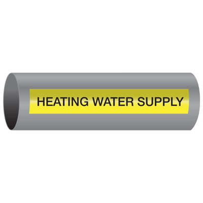 Xtreme-Code™ Self-Adhesive High Temperature Pipe Markers - Heating Water Supply