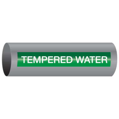Xtreme-Code™ Self-Adhesive High Temperature Pipe Markers - Tempered Water